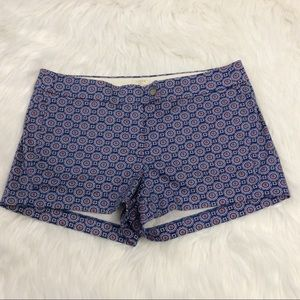 J. Crew Chino Stretch Multi Color Shorts Sz 10